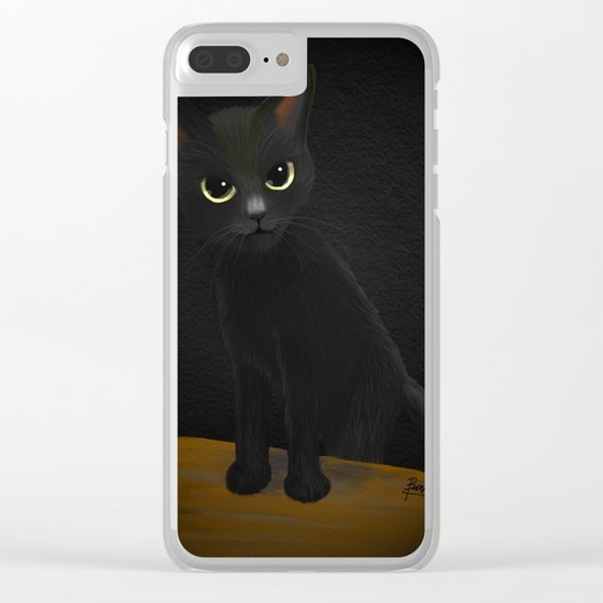 Dark and black Clear iPhone Case