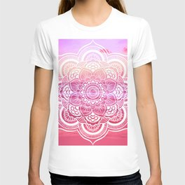 Water Mandala Hot Pink Fuchsia T-shirt
