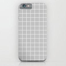Grid (White/Silver) iPhone 6s Slim Case