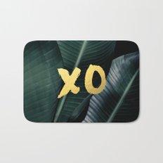 XO gold - banana leaf Bath Mat