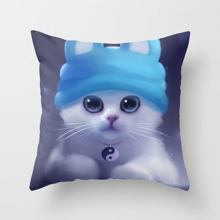 Yang The Cat Throw Pillow