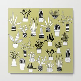 Cacti Drawings Metal Print