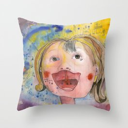 I feel happy Throw Pillow