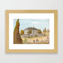 Sunday at the Chateau Framed Art Print