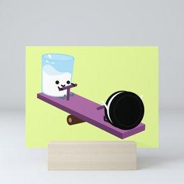 Milk and Cookie - Seesaw Mini Art Print