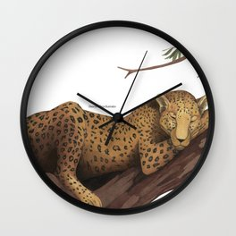Sleeping leopard Wall Clock