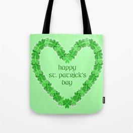 Happy St. Patricks Day Heart Tote Bag