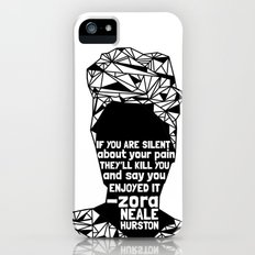 ZNH - If You Are Silent - Black Lives Matter - Series - Black Voices iPhone (5, 5s) Slim Case