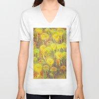polka dot V-neck T-shirts featuring Polka Dot Jellyfish by mark jones