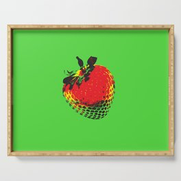 Strawberry Green - Posterized Serving Tray