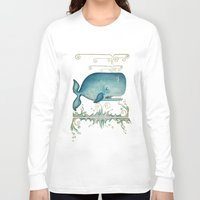 the whale Long Sleeve T-shirts featuring WHALE by Patrizia Ambrosini