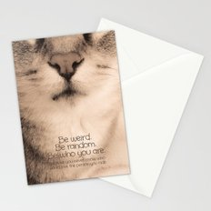Wise Tabby Cat Stationery Cards
