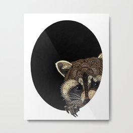 Socially Anxious Raccoon Metal Print