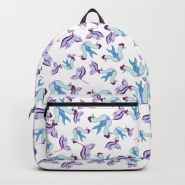 Blue Bird and Flower Backpack