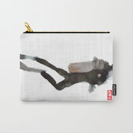 Scuba Diver Watered Down Carry-All Pouch