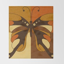RETRO BUTTERFLY Throw Blanket