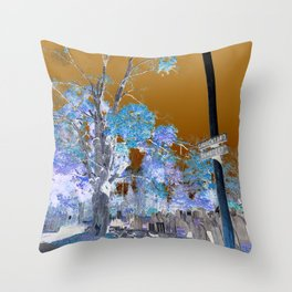 Churchyard  Throw Pillow