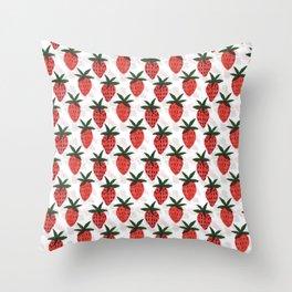 the strawberrys Throw Pillow