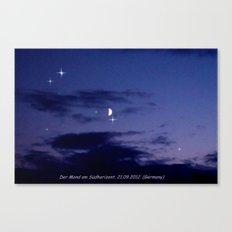 Mond am Südhorizomt. Canvas Print