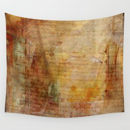 Antique Vintage Old Letters Textured Paper Wall Tapestry