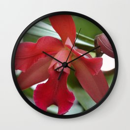 Orchid Red Wall Clock