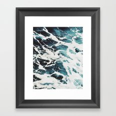 Dark water wave #society6 Framed Art Print