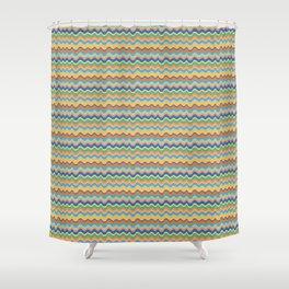 Retro Wave Shower Curtain