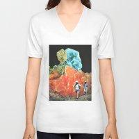 safari V-neck T-shirts featuring Sorry Safari by Djuno Tomsni