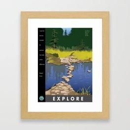 Explore Rock Lake Framed Art Print