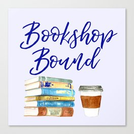 Bookshop Bound Canvas Print
