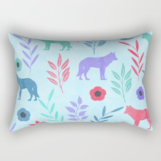 Forest Animal and Nature Rectangular Pillow