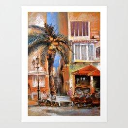 Outdoor cafes Art Print
