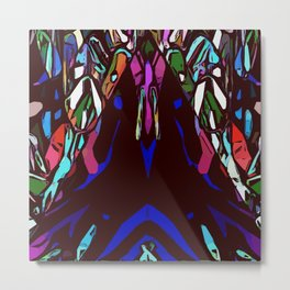 Nondenominational and Playful Pyramid Complexity Metal Print