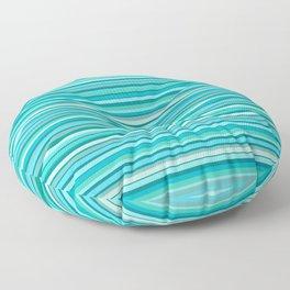 Tahitian Ocean Aqua Stripes Fine Stripe Pattern Floor Pillow