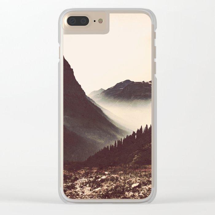 Montana Mountain Pass Clear iPhone Case