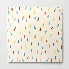 Abstract Retro Colored Rain Drops Snow Flakes - Ipotane Metal Print