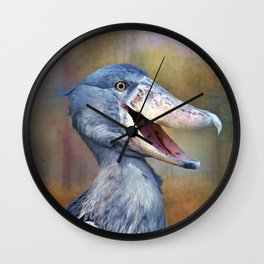 The Shoebill Wall Clock