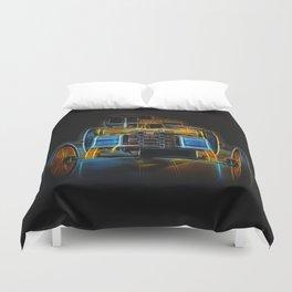 Fractal Car Neon Light Duvet Cover