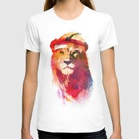 gym T-shirts featuring Gym Lion by Robert Farkas