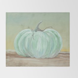 Ready for Fall Cinderella pumpkin Throw Blanket