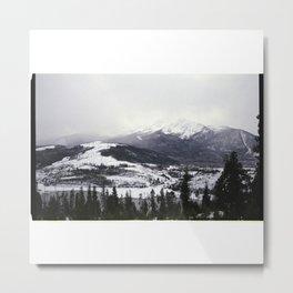 Snowy Mountains on Film Metal Print