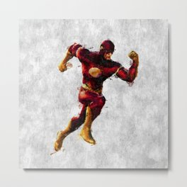 Flash Hero Metal Print