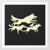 mononoke Art Prints featuring Princess Mononoke by Wharton
