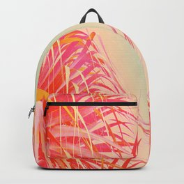 Living Coral Feather Palm Backpack