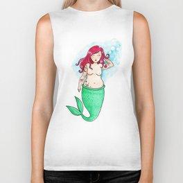 Little Mermaid Biker Tank