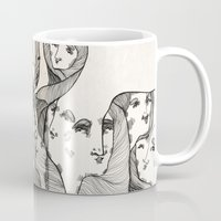 faces Mugs featuring Faces by MSarte