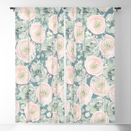 Flowers And Succulents #buyart #decor #society6 Blackout Curtain