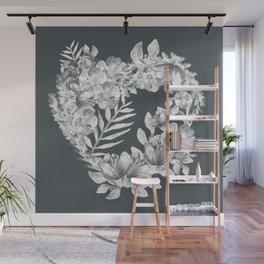 Flowers in her heart Wall Mural