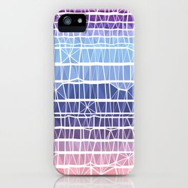 Low Poly Pink, Purple, and Blue Gradient iPhone Case