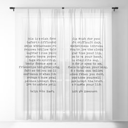 Ralph Waldo Emerson Quote, This Is My Wish For You, Motivational Quote, Sheer Curtain